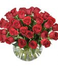Forever Yours AUS 463 36 Red roses in glass vase