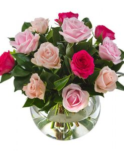 Key To My Heart AUS 442 12 pink roses