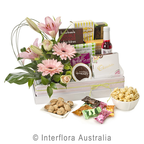 H171-Just-for-Her-Sweet-Gourmet-Selection-with-Flowers