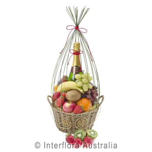 H182-Fruit-Tingle-Basket-with-Fruit-and-Sparkling-Wine