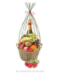 714 Basket of Seasonal Fruit with Sparkling Wine