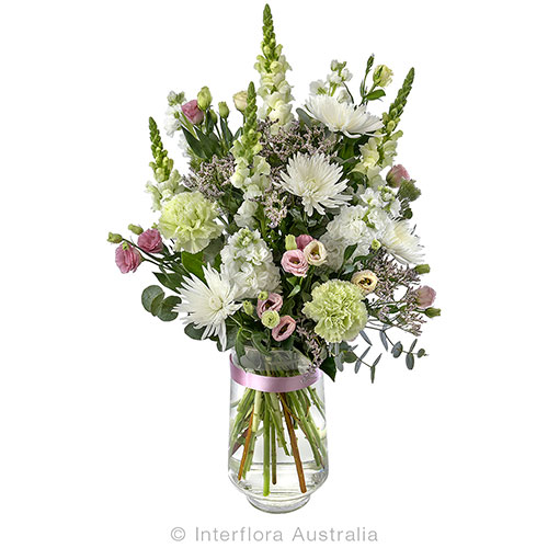 722 Large Bouquet in a Tall Glass vase