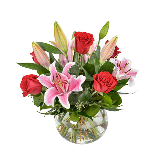 be mine AUS 458 rose and lily bouquet