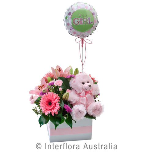 314-Flower-Box-with-a-Teddy-Bear-and-Balloon